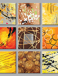 Hand-Painted Abstract Square,Modern European Style More than Five Panels Canvas Oil Painting For Home Decoration