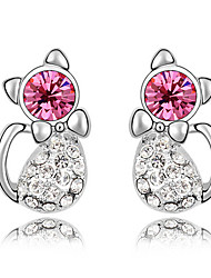 Stud Earrings Crystal Unique Design Animal Design Euramerican Fashion Personalized Chrome Jewelry For Wedding Party Birthday Gift 1 pair