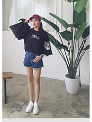 Manga t-shirt feminino grande jardas grande songxia korea harajuku bf estudante tassel parágrafo curto impresso de manga curta camisa