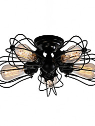 MAX:60W Flush Mount ,  Country Brass Feature for Designers Metal Living Room / Bedroom / Study Room/Office / Entry