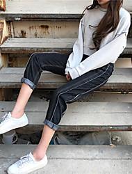 firmar Dongkuan gruesa viento bf jeans rectos pantalones vaqueros pantalones de estudiantes rebabas Nett