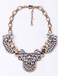 Women's Statement Necklaces Crystal Flower Chrome Unique Design Jewelry For Casual 1pc