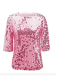 2017ebay aliexpress amazon europe perles multicolore sequin veste chemise t-shirt femme