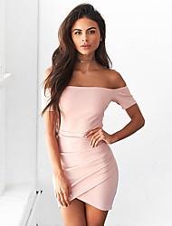 Aliexpress женщин внешней торговли взрыва моделей 2017 весной и летом воротник с коротким рукавом платье юбки