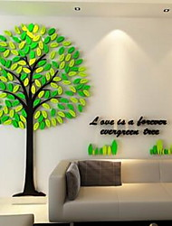 Botanical Wall Stickers 3D Wall Stickers Decorative Wall Stickers,Glass Material Home Decoration Wall Decal