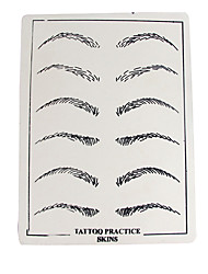Solong Tattoo Accessories 10 X Permanent Makeup Tattoo Practice Skins Supply Eyebrow TA501-8