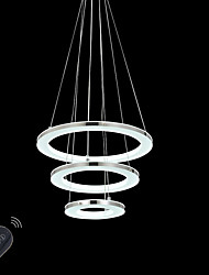 36W Modern LED Acrylic Pendant Lights Indoor Home Deco Lighting Fixtures  with Remote Control