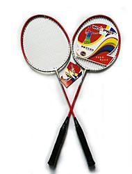 Badmintonschläger Dauerhaft Leichtes Gewicht Rutschfest Ferrolegierung Ein Paar für Drinnen Draußen Leistung Training Legere Sport
