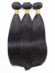 3pcs / lot cabelo virgem extensões de cabelo em linha reta cabelo humano remy barato tece madeixas de cabelo retas brasileiros trama