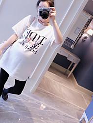 La nouvelle maternité enceinte t-shirt en bas de chemise manches courtes décontractées chemise blanche grande marée marée
