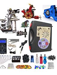 Komplettes Tattoo Kit1 x Stahl-Tattoomaschine für Umrißlinien und Schattierung 1 x Drehtattoomaschine für Umrißlinien und Schattierung 1