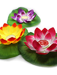 1Pcs The Lotus Lamp Emulation Silk Cloth Lamp/New/Creative River Water Lanterns Made Vows Color Random