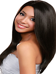 en stock - 130% de la densité 12-18inches perruques avant de dentelle perruques perruques droites yaki cheveux humains brazilian pour les