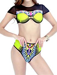 Women's Halter Bikini,Floral Boho Polyester