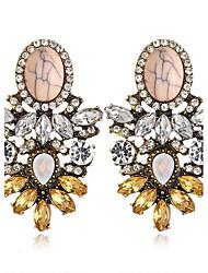 Luxury Earring Amethyst Circle Hoop Earrings Jewelry Women Fashion Wedding / Party / Casual Zircon 1 pair