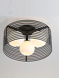 60W Flush Mount , Modern/Contemporary/Country Painting Feature for Mini Style Metal Living Room/Bedroom/Dining Room
