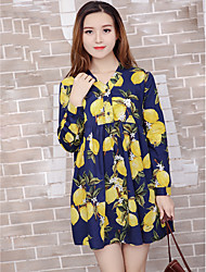Pregnant spring loose big yards long sleeve dress YFZ fashion casual long section printing baby shirt female