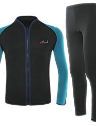BlueDive® Unisexe 2mm Combinaison  Intégrale Garder au chaud Séchage rapide Zip frontal Vestimentaire Sans couture Doux Nylon Néoprène