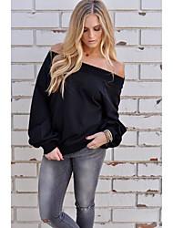 Women's Going out Cute Shirt,Floral Off Shoulder Long Sleeve Cotton