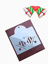 Xmas Twin Bell Cookies Stencils Pancake Biscuit Cutter Helper Coffee Draw Mold Fondant Patisserie Kitchen Baking Tools