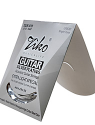 Professional String High Class Guitar Acoustic Guitar New Instrument Silver Plated Musical Instrument Accessories White