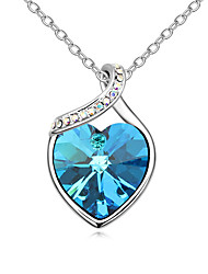 Women's Pendant Necklaces Crystal Chrome Love Heart Euramerican Personalized Jewelry For Wedding Party Birthday Congratulations 1pc