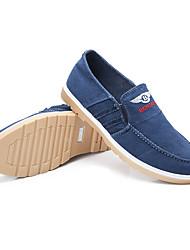 Sneakers Frühling Sommer Herbst Komfort Laute Sohlen Leinwand Outdoor Büro&Karriere casual flache Ferse schwarz dunkelblau laufen