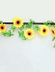 200CM Silk  Large Size 10 Head Sunflowers Rattan Artificial Flowers