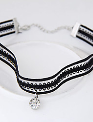 Choker Necklaces Alloy Lace Euramerican Fashion Round Jewelry Women's Party Daily 1pc