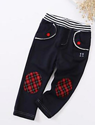 Girls' Casual/Daily Color Block Pants Spring