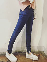 Sign in spring 2017 women's feet was thin package nap hole tight pencil jeans trousers Nett