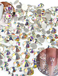 1440pcs/bag Mixed Size Nail Art Bling Crystal AB Rhinestone Decoration Glitter Rhinestone Nail Art Sparkling Shiny Rhinestone Nail Beauty Decoration