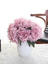 1 Ramo Poliéster Plástico Peônias Flor de Mesa Flores artificiais 9*7