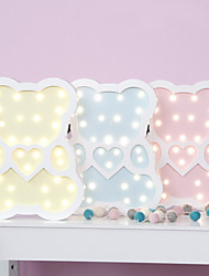 Nordic Style LED Night Light Table Lamp Wall Lamp Wall Decoration LED Ornament Children Room Decoration  Love The Bear Cartoon Lamp