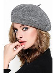Beret qiu dong season new female joker pure color of England felt trilby hat han edition fashion tide painter octagonal cap