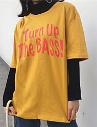 Zeichen der Zuflüsse der neuen Frauen&# 39; s Buchstabe Kurzhülse T-Shirt weibliches short-sleeved Hemd mitleidig