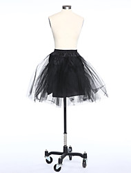 Slips Ball Gown Slip Short-Length 3 Tulle Netting Taffeta White Black Red