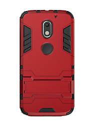 Para Antigolpes con Soporte Funda Cubierta Trasera Funda Un Color Dura Policarbonato para MotorolaMoto X Play Moto G3 MOTO G4 Moto G4
