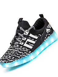 Boys' Sneakers Summer Fall Light Up Shoes Comfort Luminous Shoe Fabric Athletic Flat Heel Lace-up Fitness & Cross Training