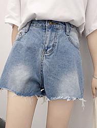 signer 2017 nouveaux sauvages en vrac short en jean taille semi-élastique flash marée femme nett