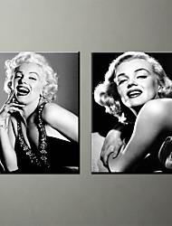 Canvas Print People Modern Marilyn MonroeTwo Panels Canvas Vertical Print Wall Decor For Home Decoration