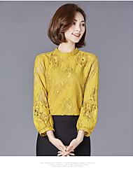 Signe 2017 nouvelle chemise à manches sensiblement mince chemise en dentelle à manches courtes en coréen section mince