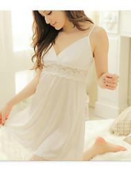 Damen Babydoll & slips Nachtwäsche,Retro Solide-Polyester