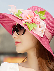 Summer Flowers Double Color Big Hat Cloth Sunscreen Sun Cap for Lady Women