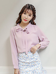 & Sign Stock Korean female long-sleeved shirt small fresh sweet spring models 17 years
