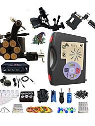 Kit completo para tatuaje   2 x máquina de tatuaje rotativa para línea y sombreado Una aleación x tatuaje máquina para revestimiento y