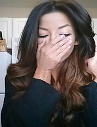 100% perruques front indien cheveux vierges humaine pleine de dentelle glueless vague profonde 8-26 pouces brun ombre / perruque blonde