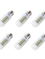 4W E26 E27 LED Mais-Birnen T 84 SMD 3528 350 lm Kühles Weiß V 6 Stück