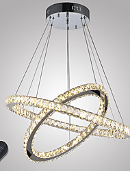Dimmable Crystal Chandeliers LED Indoor Pendant Light Ceiling Lamp Lighting with Remote Control