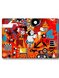 For MacBook Air 11 13/Pro13 15/Pro with Retina13 15/MacBook12 Red Cartoon Decorative Skin Sticker Glow in The Dark
